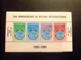 ZIMBABWE 1980 75 ANIVERSARIO ROTARY INTERNACIONAL Yvert N º BF 1 ** MNH - Zimbabwe (1980-...)