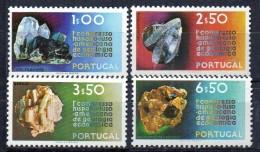 PIA - PORTOGALLO  - 1971  : Minerali    - (Yv 1119-22) - Minerali