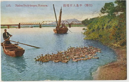 135 Native Duck Keeper Formosa  Gardien De Canards - Taiwan