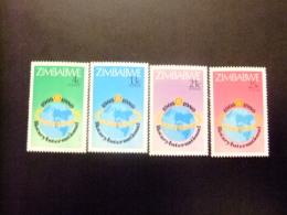ZIMBABWE 1980 75 ANIVERSARIO ROTARY INTERNACIONAL Yvert N º 17 / 20 ** MNH - Zimbabwe (1980-...)