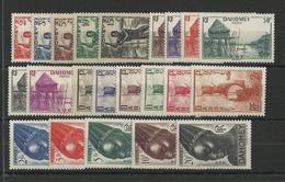 DAHOMEY - YVERT N°120/141 * MH - COTE = 22 EUR. - CHARNIERE LEGERE - Dahomey (1899-1944)