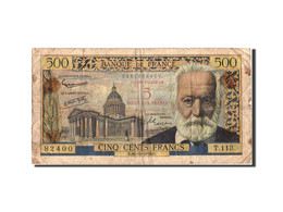 France, 5 Nouveaux Francs On 500 Francs, 1955-1959 Overprinted With ''Nouveau... - 1955-1959 Surchargés En Nouveaux Francs