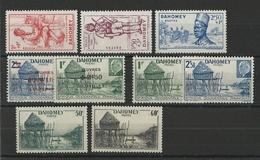 DAHOMEY - YVERT N°142/144 + 149/154 * MH - COTE = 10.2 EUR. - CHARNIERE LEGERE - SECOURS NATIONAL - Dahomey (1899-1944)