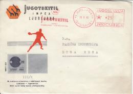 Yugoslavia 28th World Table Tennis Championship In Ljubljana Letter Cover & Jugotekstil Slogan Meter Stamp Bb161020