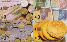 PORTUGAL TELECOM PHONECARD(CHIP) COINS(4 Pcs)-1/03-2000pcs!!! -USED(bx1)-RARE!!! - Portugal