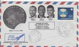 Yugoslavia Apollo XIII Special Letter Cover & Postmark Rocket Post Bb161020