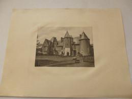 VIENNE  -  SANXAY  - Gravure . Paysages Et Monuments Du Poitou De Jules Robuchon. - Old Paper