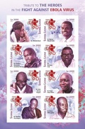 Sierra Leone 2015, Ebola Virus, Red Cross, 8val In BF IMPERFORATED