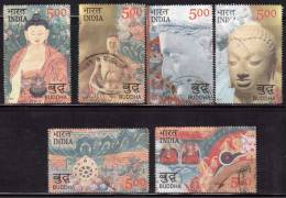 India Used 2007, Set Of 6, Buddha