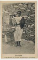 Abyssinie 5 Guerrier Abyssin Avec Sa Lance Et Son Bouclier En Peau D' Hippopotame - Ethiopie