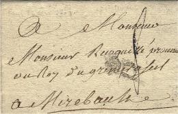 1773 - Lettre De Paris -  P Couronné  Lenain  L 13  Pour Mirebeau - 1701-1800: Précurseurs XVIII