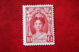 Koningin Wilhelmina 10 Ct NVPH Nr: 118 1927 MH / Ongebruikt SURINAME / SURINAM - Surinam ... - 1975