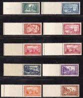 MONACO 1933/137 N° 119 à 134  Neuf ** Gomme D´Origine Avec Bord De Feuille  TTB - Neufs