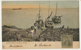 Trinidad Shipping Pitch , La Brea B.W.I.  Colored Tourbe Ou Asphalte - Trinidad