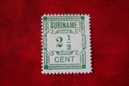 Hulpuitgifte 2 1/2 Ct  NVPH 66 1912  Ongebruikt / MH SURINAME / SURINAM - Surinam ... - 1975