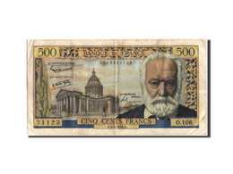 France, 500 Francs, 500 F 1954-1958 ''Victor Hugo'', 1958, 1958-09-04, KM:133... - 1871-1952 Circulated During XXth