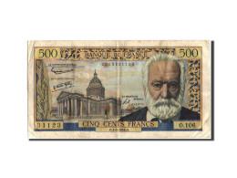 France, 500 Francs, 500 F 1954-1958 ''Victor Hugo'', 1958, 1958-09-04, KM:133... - 1871-1952 Anciens Francs Circulés Au XXème