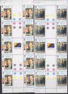 Falkland Islands 1999 Wedding Prince Edward & Sophie Rhys-Jones 2v  Strip 5x Gutter ** Mnh (F5815) - Falklandeilanden