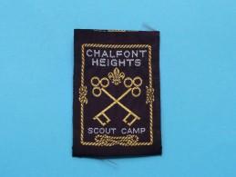 Boy Scouts Badge : CHALFONT HEIGHTS - Scout Camp ( Zie Foto Voor Detail ) ! - Padvinderij
