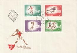 Hongarije - FDC 30-8-1966 - 8. Europäische Leichtathletik-Meisterschaften, Budapest - M 2262A-2269A - FDC