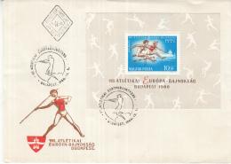 Hongarije - FDC 30-8-1966 - 8. Europäische Leichtathletik-Meisterschaften, Budapest - M Blok 54A - FDC