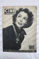 Old Movie/ Cinema Magazine From 1954, Cover: Lorreta Young, Back Cover: Barbara Rush - Magazines