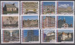 Mairies De France (2015) Autoadhésifs Y/T Série 1203/13 Oblitérés à 10% De La Cote - Adhésifs (autocollants)