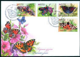 TH Belarus 2016 Butterflies Fauna Insects FDC _ - Insekten