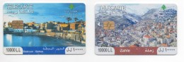 Zahle & Batroun Used Phonecards 2008/12 Lebanon, Telecarte Liban Libano
