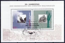 West-Duitsland - 50. Jahrestag Der Beendigung Des Zweiten Weltkrieges - FD-stempel - M Blok 31 - [7] West-Duitsland