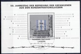 West-Duitsland - 50. Jahrestag Der Befreiung Der Gefangenen Aus Den Konzentrationslagern - FD-stempel - M Blok 32 - [7] West-Duitsland