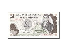 Colombie, 20 Pesos Oro, 1983, 1983-01-01, KM:409d, NEUF - Colombie
