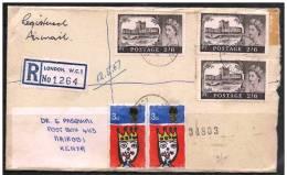 Gran Bretagna/Great Britain/Grande-Bretagne: Raccomandata, Registered, Recommandé, Castello, Castle, Château