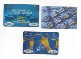 3 Kalam Used Phonecard Lebanon, Telecarte Liban Libanon