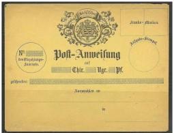 Germania/Allemagna/Germany (Sachsen): Vaglia Postale, Postal Order, Afin Postal - Stemma, Arms, Blason