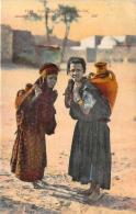 Scènes Et Types - Jeunes Femmes Portant Leur Provision D'eau (semeuse Surcharge Algérie Cad Novi 1925) - Algeria