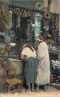 Scènes Et Types - Une Boutique Arabe (semeuse Bande X3 Surcharge Algérie Cad Novi) - Algeria