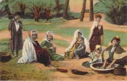 Scènes Et Types - Famille De Nomades (semeuse Surcharge Algérie Cad Novi, Daguin Lourdes 1925) - Algeria
