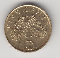 @Y@  Singapore   5 Cents  1995     (3195) - Singapore