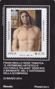 """2014 - ITALIA -  TESSERA FILATELICA  """"PATRIMONIO ARTISTICO E CULTURALE ITALIANO"""" V CENTENARIO SCOMPARSA DI BRAMANTE - Tarjetas Filatélicas"""