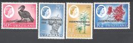 Swaziland 1968 Definitive Overprints 25c To R2 MNH CV £16.85 - Swaziland (1968-...)