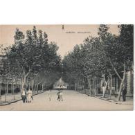 AMRATP2633CPA-LFTD3437TARAR .Tarjeta Postal DE ALMERIA.Arboles,personas,paseo En El BOULEVAD  DE  ALMERIA - Árboles
