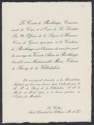 Le Comte De Rorthays, Camérier Secret De Cape Et D'Epée De Sa Sainteté Pie XII .... - Mariage