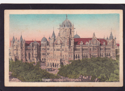 Old Post Card Of Victoria Terminus,Bombay,Mumbai, Maharashtra, India..J55. - India