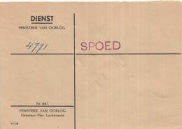 Nederland - Dienstenveloppe Ministerie Van Oorlog/Directeur Materieel Luchtmacht - Nr 661 - Lakzegel - Zie Beschrijving - Marcofilie - EMA (Print Machine)