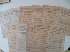LOT DE PARTITION LA MUSIQUE DES ANNALES - Scores & Partitions