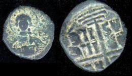 Greece Byzantine Bronze Coin M Thompson Christ Facing Anonymous Class B 1028-34 - Greece