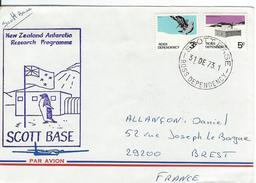 12322  SCOTT BASE - NEW ZÉLAND ANTARTIC PROGRAMME - 1973 - Lettres & Documents