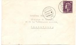 Luxembourg Lettre Bissen 12-10-1951 Au Ministre Du Travail Nic. Biever