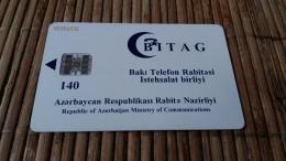 Phonecard Azerbaijan Used Very Rare 2 Scans - Azerbaïjan